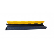 Passe-câble industriel  2 canaux VISO - jaune et noir - 100 x 250 x 50 mm - supporte 1T - CP1081