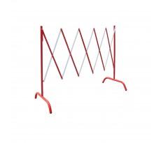 Barrière extensible acier rouge/blanc VISO - 2.30 m x H.1.05 m - BAR001RB