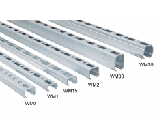 Rail de montage WALRAVEN BIS RapidRail - WM2 30 x 30 mm - 2 mètres - 6505002