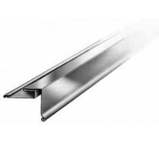 Bande de rive pour couverture bardeaux bitumés VM ZINC - zinc naturel - pente à droite - 124 mm x 24 mm x 1 m - 211679000