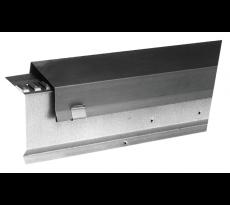Faîtage ventilé monopente VM ZINC - quartz-zinc - 250 mm - lg 2m - 211725000