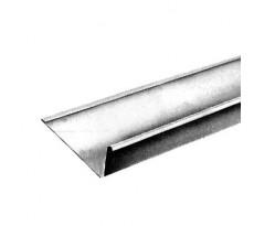 Gouttière nantaise avec pince zinc naturel - boudin de 14 - dev.33 - 80 x 205 mm - ép. 0.65 mm - 4m - 220021384