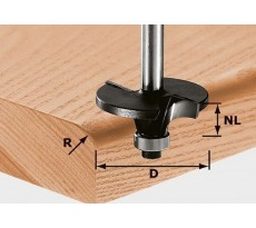 Fraise à profiler les rayons HW avec queue de 8mm FESTOOL HW S8 D42/R6 - 491131