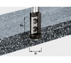 Fraise à affleurer avec plaquettes de rechange HW queue de 12mm FESTOOL HW S12 D21/30WM - 491120