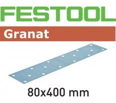 Abrasif pour ponçeuse FESTOOL Granat  - 80 x 400 mm