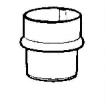Manchon mâle-femelle Aluzinc AMELUX - Ø 100 mm - 50074