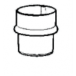 Manchon mâle-femelle Aluzinc AMELUX - Ø 80 mm - 50071