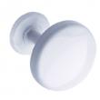 Patère 1 tête GODONNIER - Ø 65 mm - époxy blanc - 50100