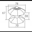 Pommeau de porte Fleur DUBOIS SAS - Laiton - QPE08083