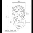 Heurtoir Tête de lion DUBOIS SAS - 5800 - Laiton - QPE08081