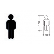 Pictogramme nylon PCT NORMBAU - Fixation par pastilles autocollantes - 05100