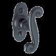 Bouton sur platine Cévennes BRIONNE - Sherardisé patiné noir - 1070700NR