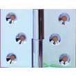 Paumelle laiton chrome 40x50 gauche