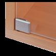 Bouton poussoir HETTICH - Pour charnière de porte en verre ET150 - Gauche - Nickel mat - 20871