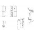 Paumelle à clamer alu 5500AI FAPIM pour porte lourde - Blanc 9010 - 5520A_32