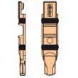 Embout de tringle régable nylon Ø6 mm FAPIM pour gorge 15x20 - 4082A
