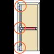 Fermeture antipanique Panama Push FAPIM - 3 points - pènes latéraux - FAP0001