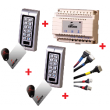Pack easy acces sécurité - 2 claviers code + contact + alim + cables - GROOM - GRS413010
