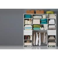 Aménagement de placard compact Prisme décor zebrano gris SIFISA - avec lot 2 tiroirs - AM1