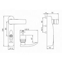 Poignée de commande électronique Trim Tronic ISEO - câble alimentation 5m - noir - 94091305E