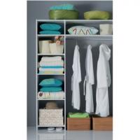 Aménagement de placard compact Prisme décor blanc SIFISA - sans tiroirs - AM7ST