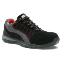Chaussure basse ZEPHIR S1P - S 24 BOSSI INDUSTRIE - Cuir croûte velours noir/toile grise - Taille 41 - 5122-41