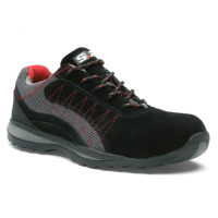 Chaussure basse ZEPHIR S1P - S 24 BOSSI INDUSTRIE - Cuir croûte velours noir/toile grise - Taille 47 - 5122-47