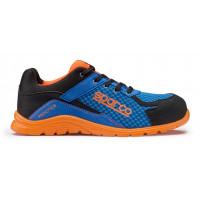 Chaussure de sécurité S24 SPARCO Practice - Noir bleu/orange - Taille 48 - PRACTICE07517AZAF48