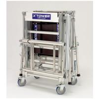 Échafaudage télescopique TUBESCA X'Tower - Hauteur 4m, avec plancher - 22405520