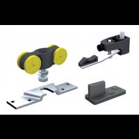 Garniture SAF80 MANTION SAS - Pour porte 80 Kg - (2 montures +2 butées réglables +1 guide 1103+1 clé) - SAF80