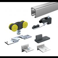 Ensemble complet MANTION SAS - Pour portes 80 Kg - (1 garniture SAF80A + 5 supports 11013 + rail 1108 L.3 m + niveau bulle Buly) - SAF80A-300