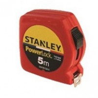 Mètre double marquage STANLEY 5m x 19mm Powerlock Classic ABS - Rouge - STHT81536-0ROUGE