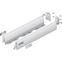 Kit tiroir complet HETTICH Innotech argent - L.620 H.70 - côté double paroi + 2 raccords arrière - 79557