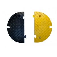 Paire d'embouts FASTEND pour ralentisseur FAST60NJ VISO - noir et jaune - 500 x 430 x 600 mm - FASTEND-JU