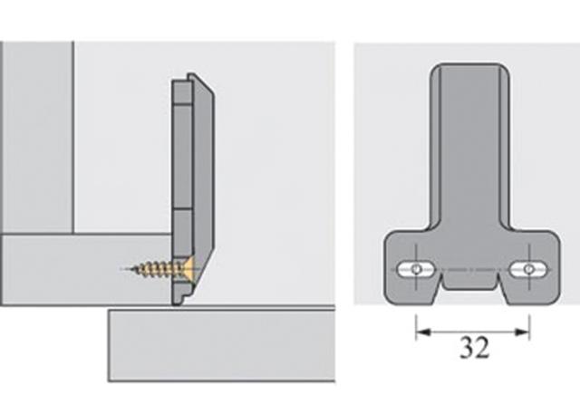 plaque cadre hettich qpe08301 assemblage de meuble ameublement. Black Bedroom Furniture Sets. Home Design Ideas