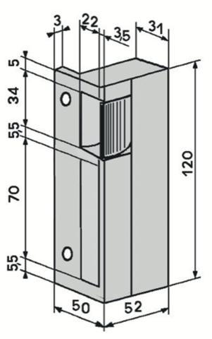 g che lectrique eff eff pour serrure en applique verticale g che lectrique contr le d. Black Bedroom Furniture Sets. Home Design Ideas