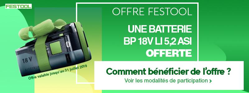 Batterie offerte Festool