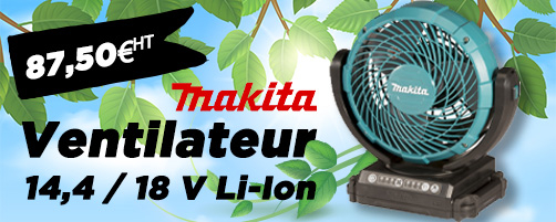 Ventilateur 14,4 / 18 V Li-Ion MAKITA