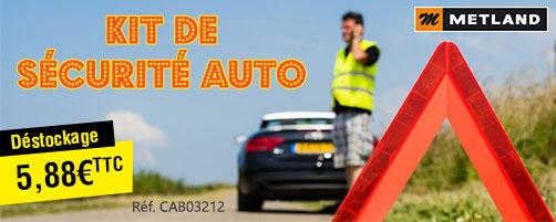 Kit de sécurité auto - 1 Gilet + 1 triangle de signalisation