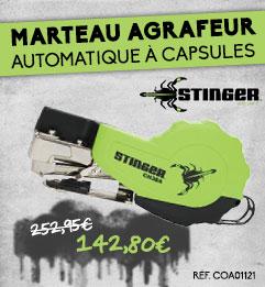 Marteau Agrafeur automatique à capsules STINGER - CH38A