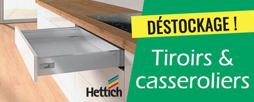 Déstockage tiroirs casserolier Hettich
