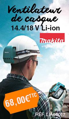 Ventilateur de casque 14.4/18 V Li-ion MAKITA - ITABCF050