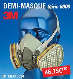Demi masque 3M - série 6000 - 6200A00