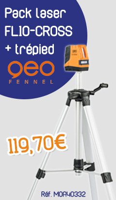 Pack laser FL10-CROSS + trépied GEO FENNEL - Croix - 540110