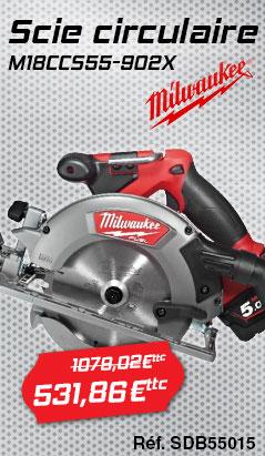Scie circulaire MILWAUKEE M18CCS55-902X