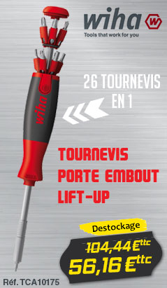 Tournevis WIHA Porte embout Lift-UP - 26 tournevis en 1