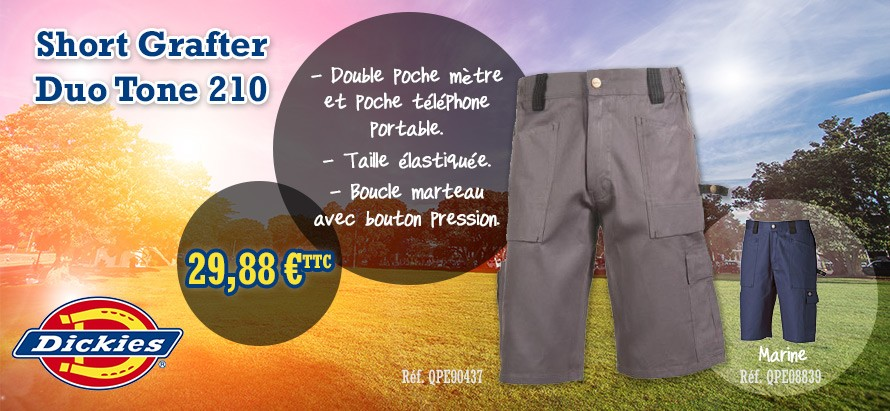 Short grafter duo tone 201