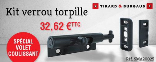 Kit verrou torpille + gâches aluminium TIRARD & BURGAUD